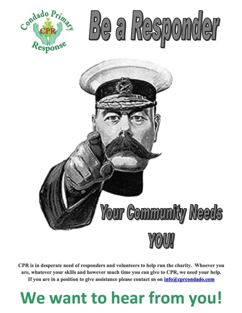 responders needed poster